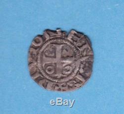 (f. 40) Duché De Bourgogne Denier Of The Abbey Of Saint Benigne Very Rare (tb +)