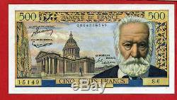 (ref S6) 500 Francs Victor Hugo 7/01/1954 (date And State Very Rare). Spl +