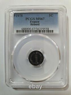 1 Centime Epi / 1975 / Rebord / Coque Pcgs / Fdc 67 / Ms 67 / Tres Rare / France