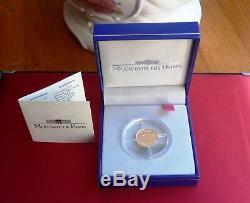 1 Centime Or Bu 2001 Très Rare