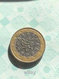 1 Euro Portugal 2002 28 Stries et un bourrelet Très Rare+++