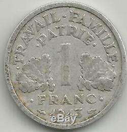 1 Franc Bazor 1943 Lourde Tres Rare Col/dim