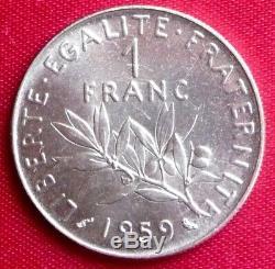 1 Franc Semeuse 1959 Essai Nickel Tres Rare