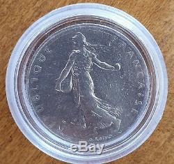 1 Franc Semeuse 1960 Tranche Lisse Tres Rare