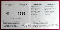 1 Franc Semeuse Bu Or 2000 Monnaie De Paris Très Rare