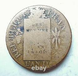 1 SOL AUX BALANCES française 1793 BB trés rare