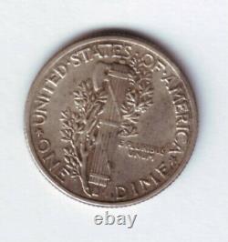 1 dime Mercury USA 1942/1 (erreur de frappe sur la date, très rare), argent