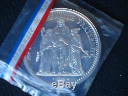 10 Francs Hercule 1965 PIEFORT Argent, FDC, Très RARE