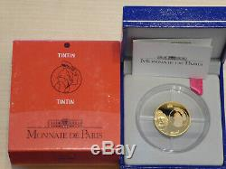 10 euro FRANCE 2007 or BE Tintin casquette (985 ex. Seulement) TRèS RARE GOLD PP