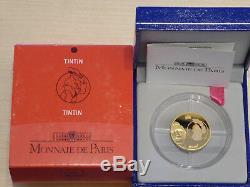 10 euro France BE 2007 OR Hergé TINTIN (985 ex.) Très RARE (1/4 oz Gold PP)
