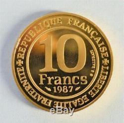 10 francs Or 1987 Très Rare! 12 grammes 920/1000