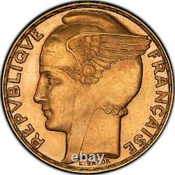 100 Francs or Bazor 1935 Paris Flan Bruni Proof PCGS PR64 très rare