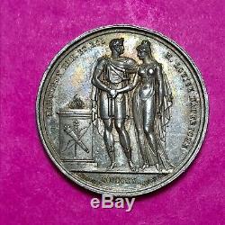 #140 Médaille Mariage de Napoléon 1810 40 mm Très RARE FACTURE