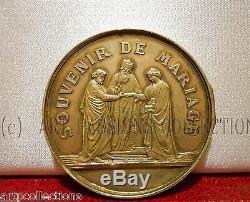 1868 Tres Rare Medaille Argent Boite De Mariage Second Empire