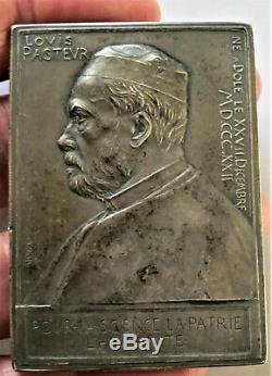 1892 ROTY. MEDAILLE D ARGENT. PASTEUR SON 70è ANNIVERSAIRE. TRES RARE MEDAILLE