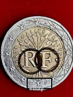 2 Euro 1999 France Faute Non Visible Très Très Rare