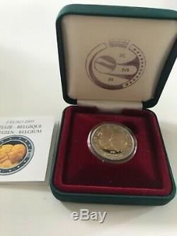 2 Euro CC BE Belle Epreuve Proof Belgique 2005! Très Rare Tirage 3000 ex