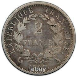 2 Francs Napoléon Empereur Tête de nègre 1807 Paris très rare