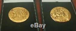 2 Très Rare or Pièces / Médailles Signé Salvador Dali comme vu sur Beverly Hills