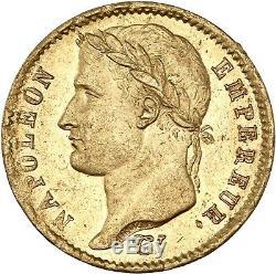 20 Francs Napoleon Tête laurée 1807 Paris Splendide très rare qualité PCGS MS62