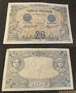 20 Francs Noir Type 1873 5/12/1904 Y. 1034 TTB + Très RARE