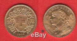 20 Francs Suisse 1926 OR très RARE 50000 Exemplaires TTB SUP