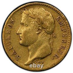 20 Francs or Napoléon 1809 H La Rochelle Très bel exemplaire PCGS XF45 Très rare