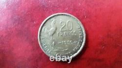20 francs 1950 B 4 faucilles Georges Guiraud Rare très bon état