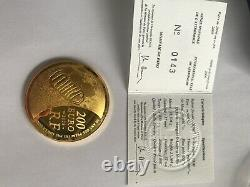 200 euros OR astronomie 2009 Très Rare