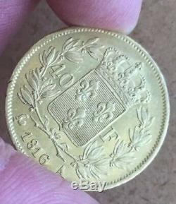40 Francs or Louis XVIII. 1816 A. Rare. Très Bel État Et Petit Prix