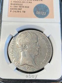 5 Francs An 13MA Très Rare