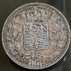 5 Francs Henri V Argent 1831 Splendide Et Tres Rare