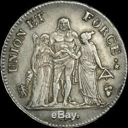5 Francs Union et Force AN 7 Perpignan très rare Superbe exemplaire