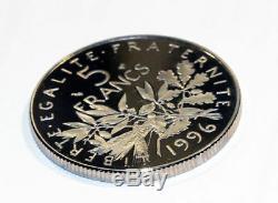 5 francs semeuse 1996 tranche Cannelée (striée) du coffret BE TRÈS RARE