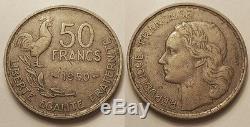 50 Francs Guiraud 1950, TTB, Très rare