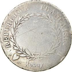 #892588 Monnaie, France, Napoléon I, 5 Francs, An 12, Turin, Très rare, B+