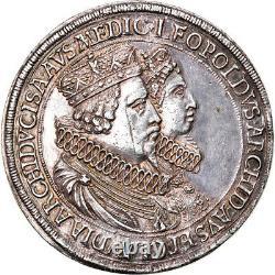 #906344 Monnaie, Autriche, Leopold V, 2 Thaler, 1635, Hall, Très rare, SUP+