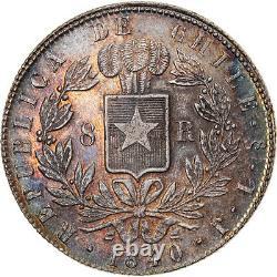 #908346 Monnaie, Chile, 8 Reales, 1840, Santiago, Très rare, FDC, Argent, KM9