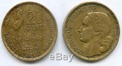 A Saisir Tres Rare Monnaie De 20 Francs Georges Guiraud 1950 B A 4 Faucilles