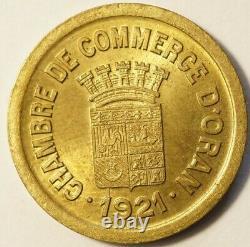 ALGERIE TRES RARE ESSAI MONNAIE DE NECESSITE 5c 1921 CHAMBRE COMMERCE D'ORAN