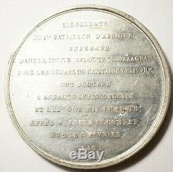 ALGERIE TRES RARE MEDAILLE POUR LA DEFENSE DE MAZAGRAN 1840 (Gr. Montagny)