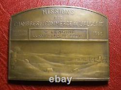 Algérie missions des chambres de commerce 1926 Médaille très rare par Pineau