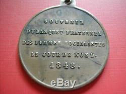 Amn. Tres Rare Satirique 1848 Le Diable Prechant Banquet Des Femmes Socialistes