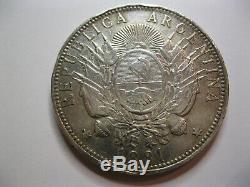 Argentine. Très rare 1 peso Patacon 1881. Argent