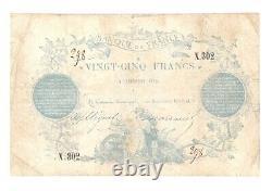 (B. 26) BILLET DE 25 FRANCS 1870 (CLERMONT-FERRAND) TB+ à TTB- TRES RARE (FA/44)