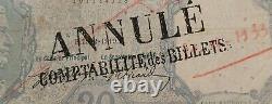 BAYARD 20 FRANCS 1919 ANNULÉ COMPTABILITÉ des BILLETS année Rare TRÈS RARE