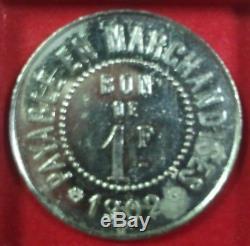 BAYONNE Monnaie / jeton de 1 franc Au Printemps 1902 TRÈS RARE Non répertorié