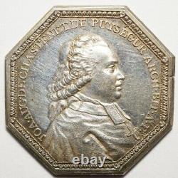 Berry Tres Rare Jeton Argent Chastenet De Puysegur, Archeveque Bourges 1788