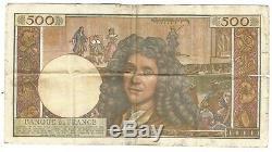 Billet 500 NF MOLIERE 1° édition 2 juillet 1959 Lettre B TRES RARE