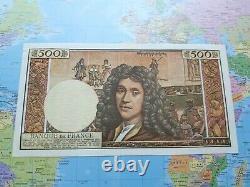Billet 500 francs Molière 3/12/1964 Date la plus rare spl 1 epinglage très discr